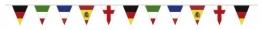 """Wimpelkette: """"International"""", 26 cm große Wimpel mit Länderflaggen, 4 m - 1"""