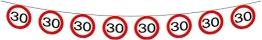 Wimpelkette: Kette mit 15 Verkehrsschildern (30. Geburtstag), 6 m - 1