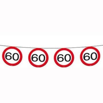 Wimpelkette: Kette mit 15 Verkehrsschildern (60. Geburtstag), 6 m - 1