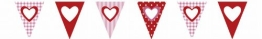 Wimpelkette: Kette mit Herz-Wimpeln aus Papier, 4 m - 1