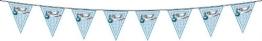 Wimpelkette, Storch, hellblau, 6 m - 1