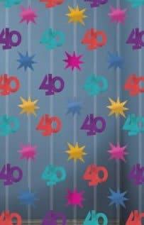 Zahlenvorhang: Zahl 40, 2 m lang, 90 cm breit - 1
