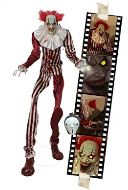 Zombie Clown 2 Meter Horror Clown Licht Sound 1
