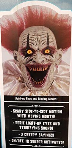 Zombie Clown 2 Meter Horror Clown Licht Sound 3