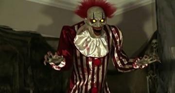 Zombie Clown 2 Meter Horror Clown Licht Sound 4