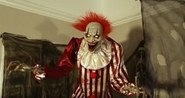 Zombie Clown 2 Meter Horror Clown Licht Sound 5