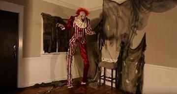 Zombie Clown 2 Meter Horror Clown Licht Sound 6