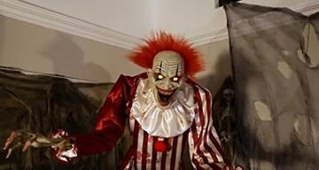 Zombie Clown 2 Meter Horror Clown Licht Sound 7