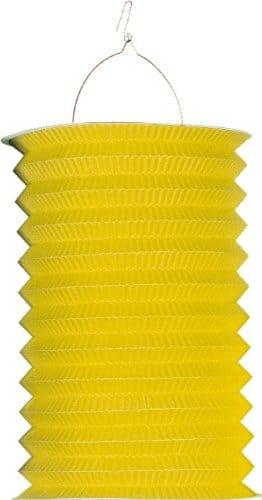 Zuglaterne: 25 cm, gelb, mit Kerzenhalter - 1