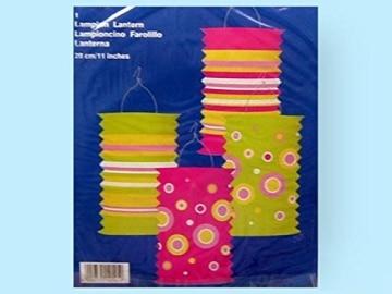 Zuglaterne, modernes Design, 28 cm Höhe, farblich sortiert - 1