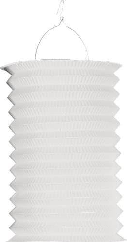 Zuglaterne: weiß, 25 cm Höhe, mit Kerzenhalter - 1