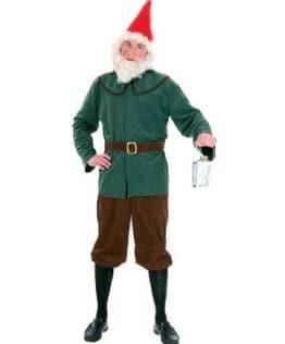 Zwerg-Kostüm: grüne Jacke und braune Hose - 1